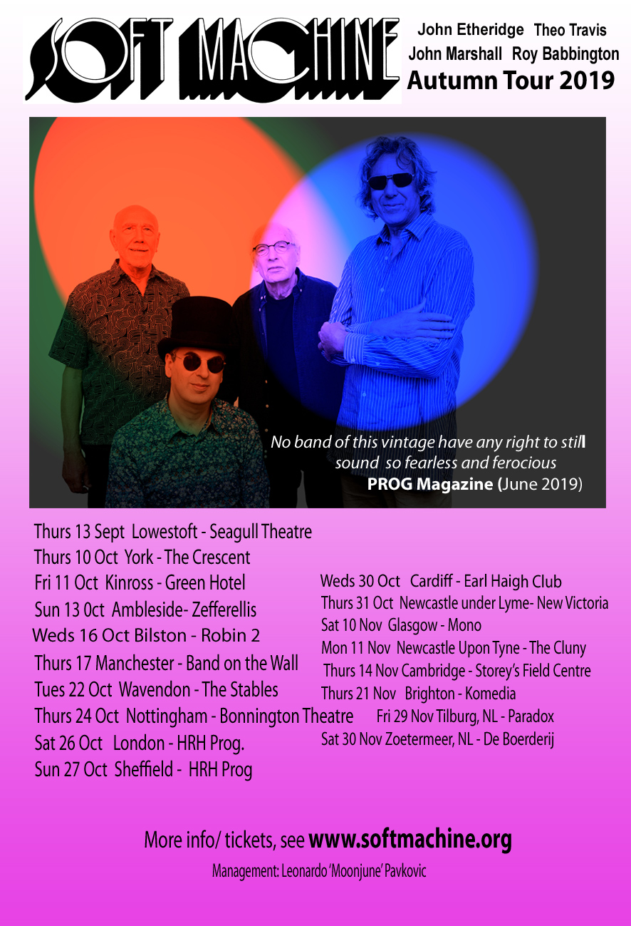 Soft Machine Tour Poster 2019